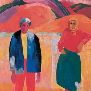 """""""Ծնողքս"""", 1962, կտավ, յուղաներկ, 140x100 սմ"""