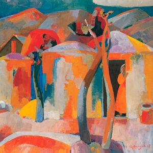 """""""Շեմին"""", 1967թ․, կտավ, յուղաներկ, 150x148 սմ"""