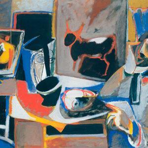 """""""Ինքնադիմանկար արվեստանոցում"""", 1972թ․, կտավ, յուղաներկ, 100x148 սմ"""
